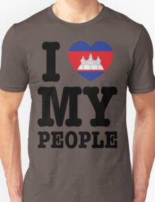 I Love My Khmer People  T-Shirt