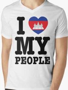 I Love My Khmer People  Mens V-Neck T-Shirt