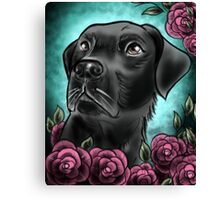 Black Lab... Canvas Print