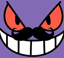 Gengar with a mustache by lpboy