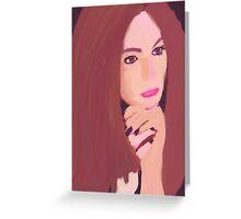 Karen Gillan Greeting Card