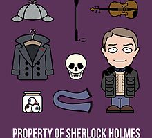 Property of Sherlock Holmes (card) by redscharlach