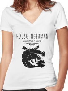 "HTTYD ""House Ingerman"" Graphic Tee Women's Fitted V-Neck T-Shirt"