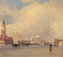 View in Venice, with San Giorgio Maggiore by Bridgeman Art Library