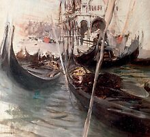Pier and Saint Marc in Venice by Bridgeman Art Library