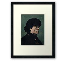 Tyrion Lannister portrait. Framed Print
