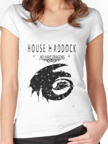 """HTTYD """"House Haddock"""" Graphic Tee Women's Fitted Scoop T-Shirt"""