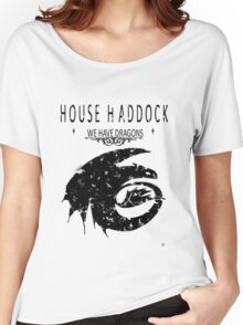 "HTTYD ""House Haddock"" Graphic Tee Women's Relaxed Fit T-Shirt"