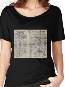 Civil War Maps 1909 War maps and diagrams Women's Relaxed Fit T-Shirt