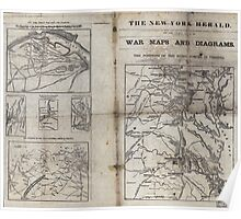 Civil War Maps 1909 War maps and diagrams Poster