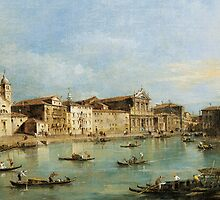 The Grand Canal with Santa Lucia and the church of the Scalzi by Bridgeman Art Library