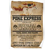 Poke Express - Trainers Wanted Poster