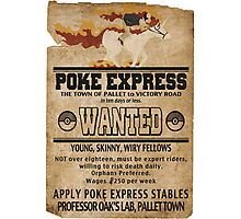 Poke Express - Trainers Wanted Photographic Print