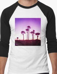 Trippy Orlando Beach Sunset Men's Baseball ¾ T-Shirt