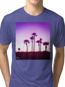 Trippy Orlando Beach Sunset Tri-blend T-Shirt
