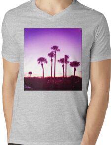 Trippy Orlando Beach Sunset Mens V-Neck T-Shirt