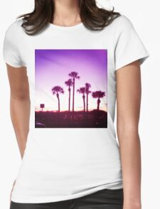 Trippy Orlando Beach Sunset Womens Fitted T-Shirt