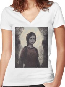 The Last Of Us Ellie Women's Fitted V-Neck T-Shirt