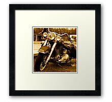 My friend the wind - Harley Davidson. by Andrzej Goszcz. Framed Print