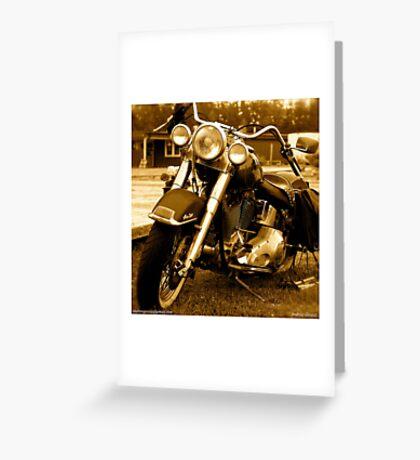 My friend the wind - Harley Davidson. by Andrzej Goszcz. Greeting Card
