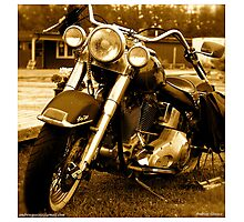 My friend the wind - Harley Davidson. by Andrzej Goszcz. Photographic Print