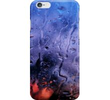 Rain, glass, color iPhone Case/Skin
