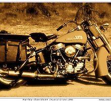 Harley Davidson. Hydral Glider . 1956. by © Andrzej Goszcz,M.D. Ph.D