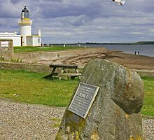 Chanonry Point with Brahan Seer Memorial by Sandy Sutherland