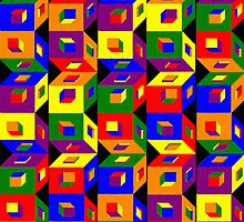 Colored Cubes by PharrisArt