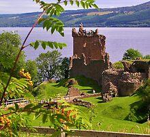 Urquhart Castle on Loch Ness by lezvee