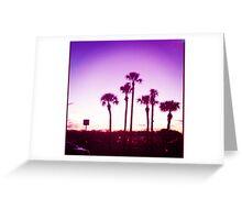 Trippy Orlando Beach Sunset Greeting Card