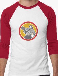 Fireman Firefighter Emergency Worker Men's Baseball ¾ T-Shirt