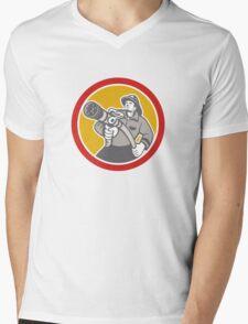 Fireman Firefighter Emergency Worker Mens V-Neck T-Shirt