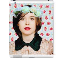 Ellen Page loves florals! iPad Case/Skin