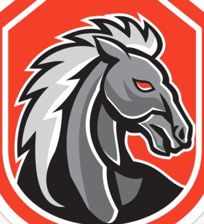 Horse Head Shield Retro Sticker