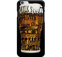 Beer Style Typography iPhone Case/Skin