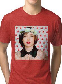 Ellen Page loves florals! Tri-blend T-Shirt