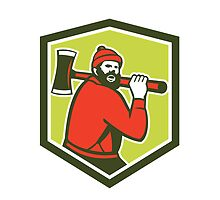 Paul Bunyan LumberJack Carrying Axe by patrimonio