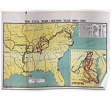 Civil War Maps 1759 The comprehensive series historical-geographical maps of the United States 02 Poster