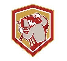 Vintage Film Camera Shield Retro by patrimonio