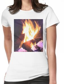 Let it Burn Womens Fitted T-Shirt