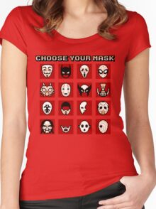 Choose Your Mask (Red) Women's Fitted Scoop T-Shirt