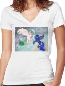 Canterlot Princesses Women's Fitted V-Neck T-Shirt