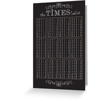 The Times Tables Greeting Card