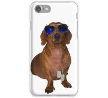 Dachshund Sausage Dog wearing Aviators iPhone Case/Skin