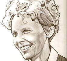 Amelia Earhart by RobCrandall