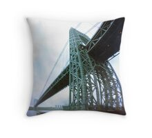 George Washington Bridge One Throw Pillow
