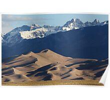 The Sangre de Cristo Range above Great Sand Dunes NP Poster