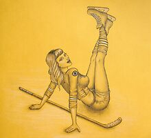 Boston Bruins Hockey Pin-Up by HeatherRose