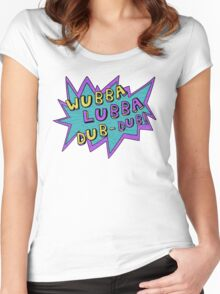 Wubba Lubba Dub-Dub! Women's Fitted Scoop T-Shirt